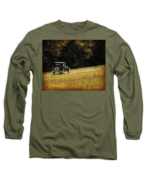 Madison County Back Roads-ford Long Sleeve T-Shirt by Kathy M Krause