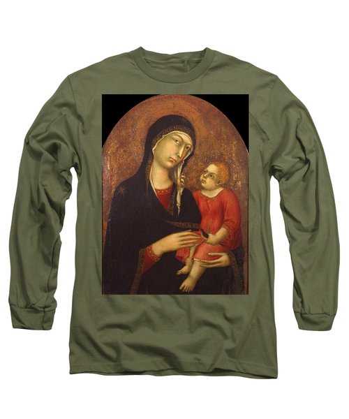Madonna With Child Long Sleeve T-Shirt