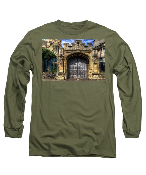 Magdalen College Door - Oxford Long Sleeve T-Shirt