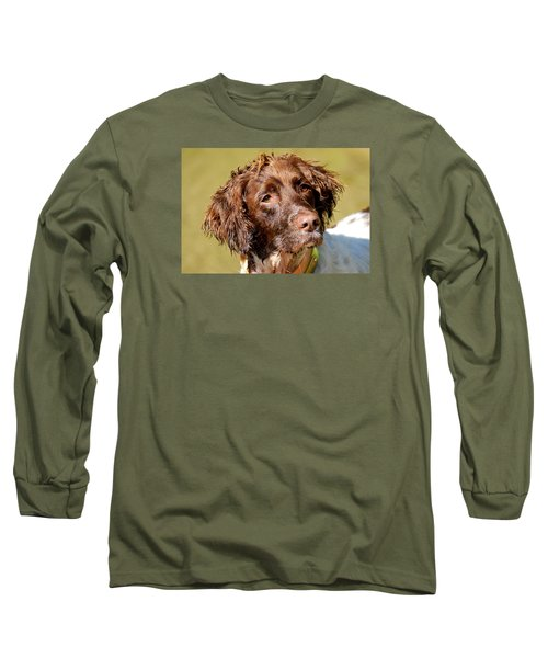 Long Sleeve T-Shirt featuring the photograph Maggie Head by Constantine Gregory