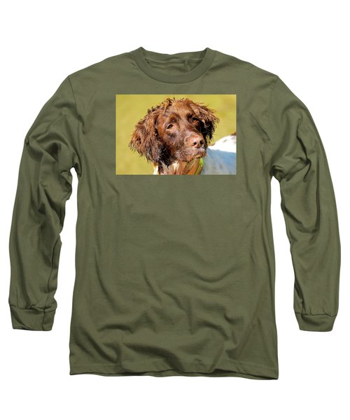 Long Sleeve T-Shirt featuring the photograph Maggie Head Photo Art by Constantine Gregory