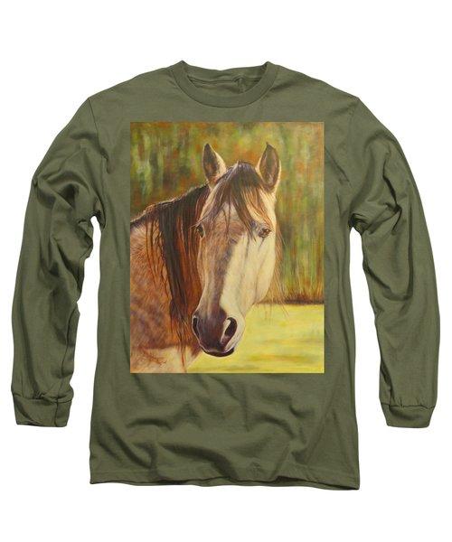 Maggie, Horse Portrait Long Sleeve T-Shirt