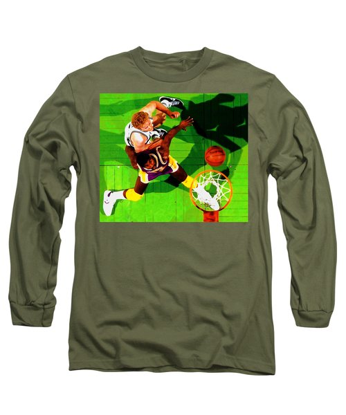 Magic And Bird Long Sleeve T-Shirt by Brian Reaves