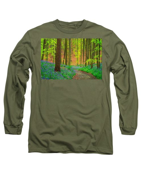 Long Sleeve T-Shirt featuring the photograph Magical Forest by Maciej Markiewicz