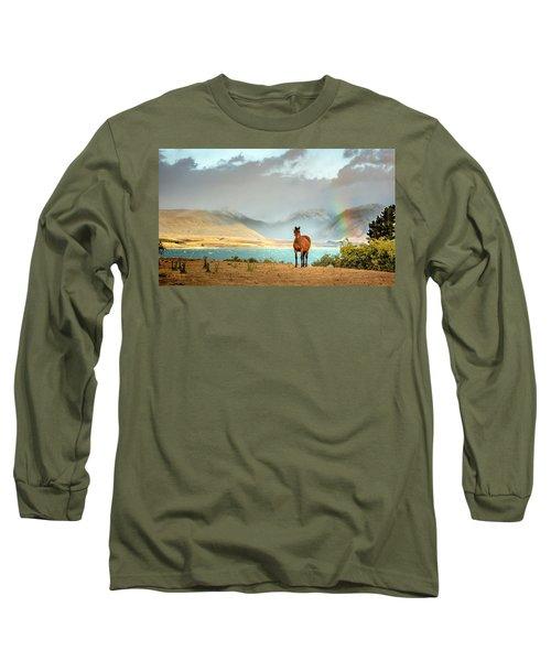 Long Sleeve T-Shirt featuring the photograph Magical Tekapo by Chris Cousins