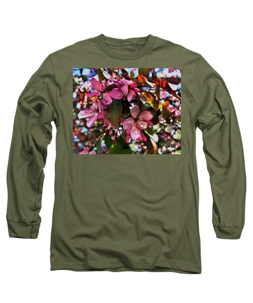Magnolia Abstract Long Sleeve T-Shirt by Marsha Heiken