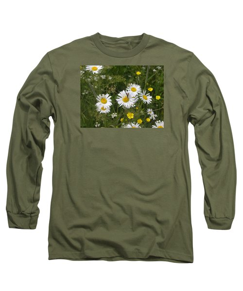 Maine Flowers Long Sleeve T-Shirt by Helen Haw