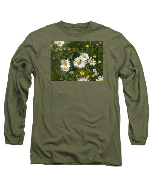 Maine Flowers Long Sleeve T-Shirt