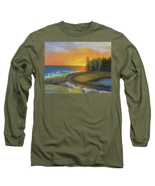 Maine Ocean Sunrise Long Sleeve T-Shirt