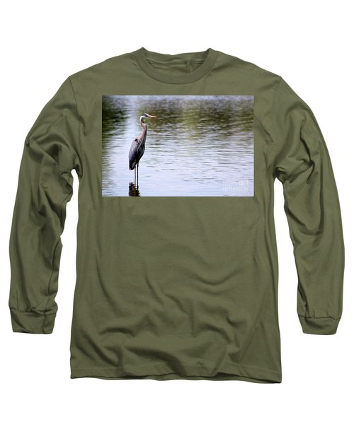 Majestic Great Blue Heron Long Sleeve T-Shirt