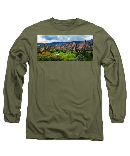 Majestic Foothills Long Sleeve T-Shirt by Kristal Kraft