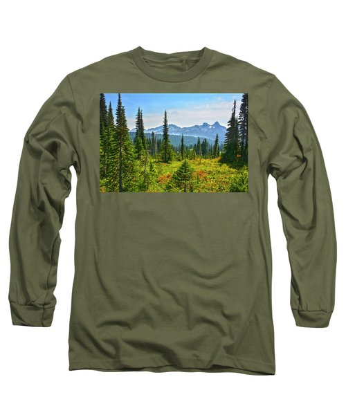 Majestic Meadows Long Sleeve T-Shirt by Angelo Marcialis