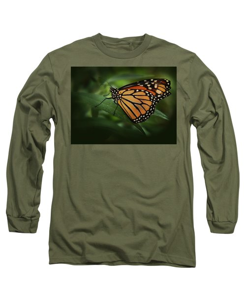 Majestic Monarch Long Sleeve T-Shirt by Marie Leslie