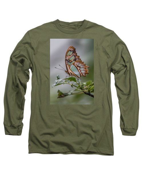 Malachite Butterfly Profile Long Sleeve T-Shirt by Patti Deters