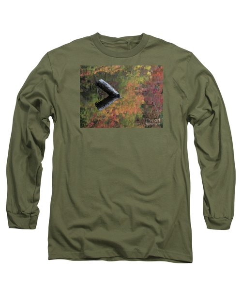 Malbourn Pond Abstract Long Sleeve T-Shirt
