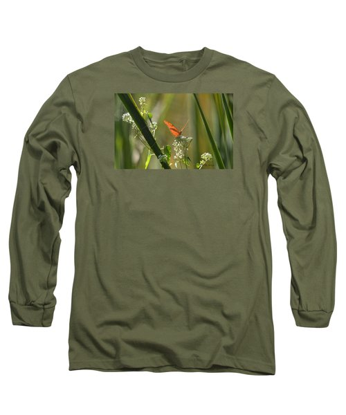 Male Julia Heliconia Butterfly Long Sleeve T-Shirt