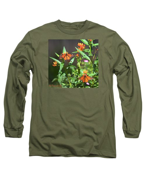 Male Monarch Butterflies Long Sleeve T-Shirt