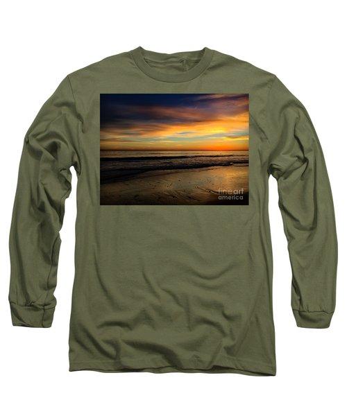 Malibu Beach Sunset Long Sleeve T-Shirt