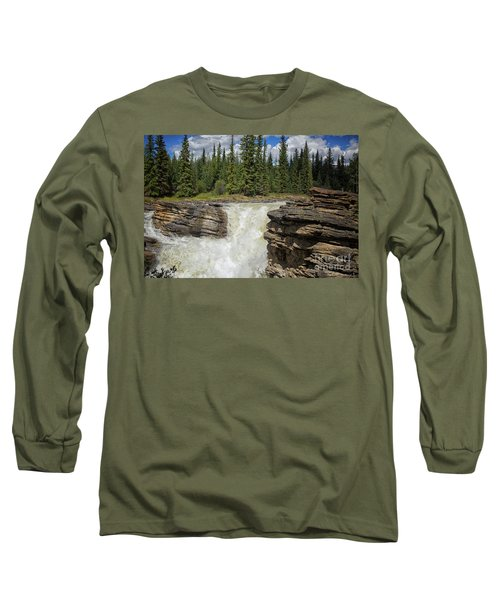 Long Sleeve T-Shirt featuring the photograph Maligne Canyon by Patricia Hofmeester