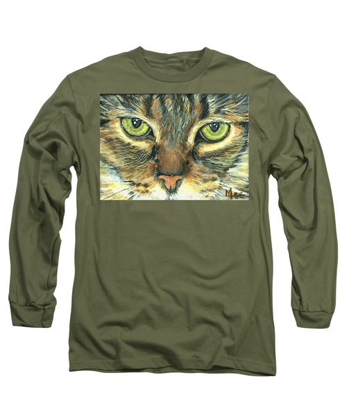 Long Sleeve T-Shirt featuring the painting Malika by Mary-Lee Sanders