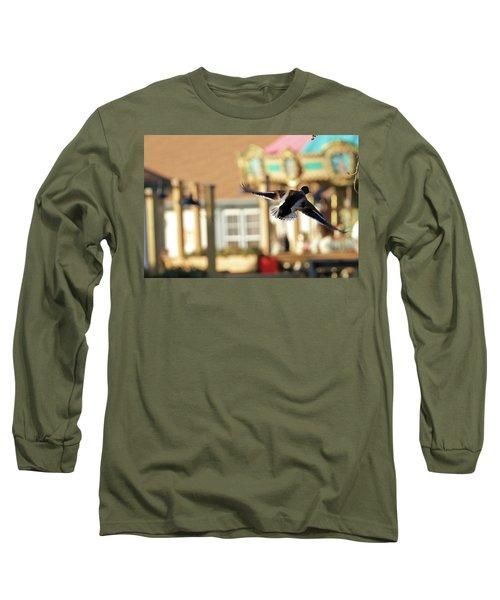 Mallard Duck And Carousel Long Sleeve T-Shirt