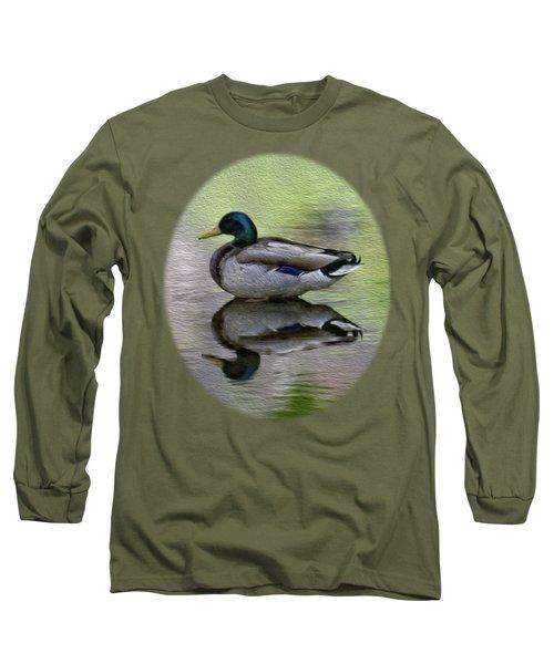 Mallard In Mountain Water Long Sleeve T-Shirt