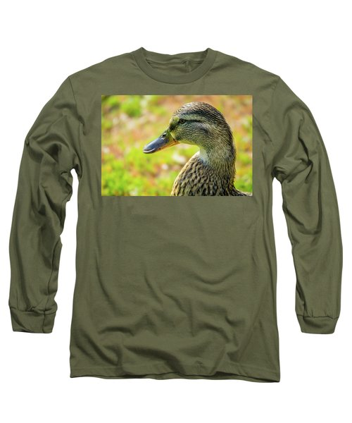 Mallard Portrait - Female Long Sleeve T-Shirt