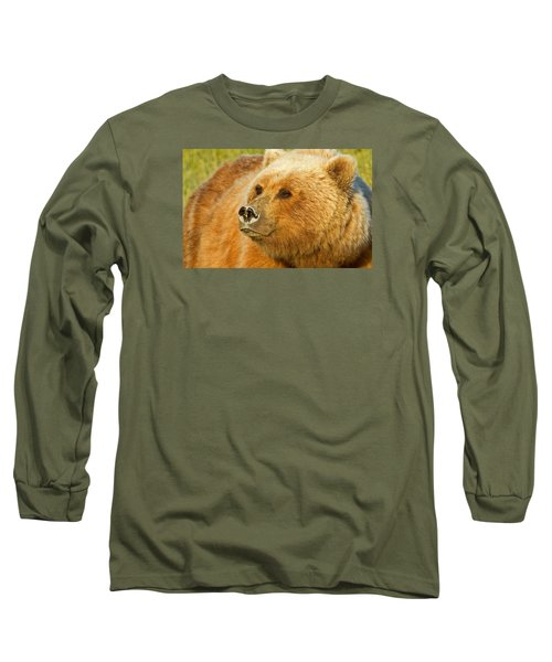 Mama Bear Close Up Long Sleeve T-Shirt