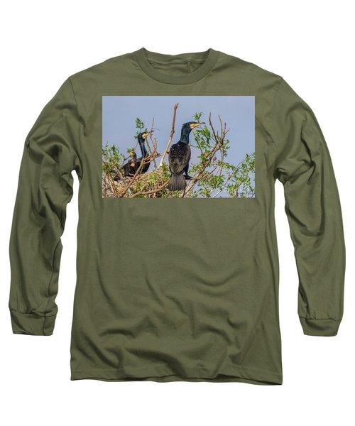 Mama, Papa And Kids - Danube Delta Long Sleeve T-Shirt
