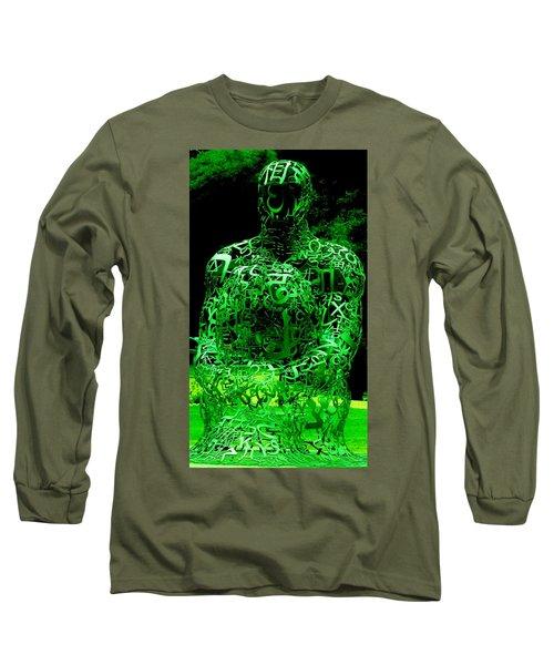 Man In Green Long Sleeve T-Shirt