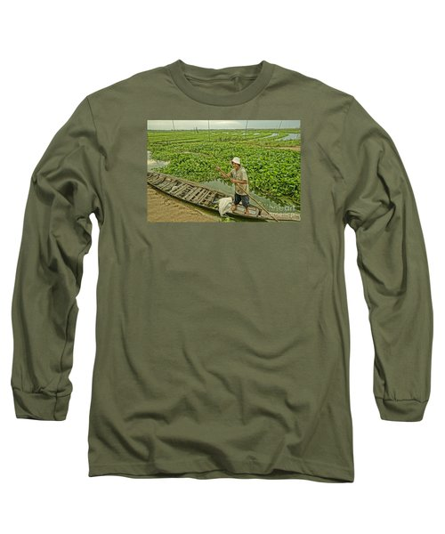 Long Sleeve T-Shirt featuring the photograph Man Of Daily Life by Arik S Mintorogo