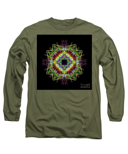 Long Sleeve T-Shirt featuring the digital art Mandala 3333 by Rafael Salazar