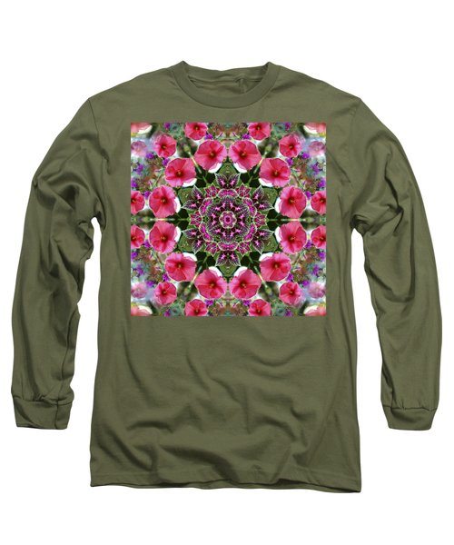 Long Sleeve T-Shirt featuring the digital art Mandala Pink Patron by Nancy Griswold