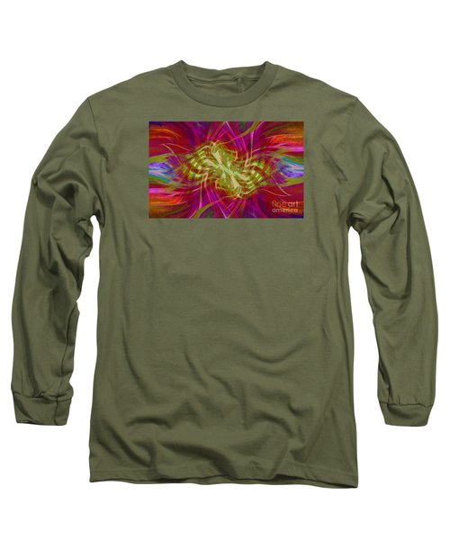 Long Sleeve T-Shirt featuring the photograph Mandala Swirl 02 by Jack Torcello
