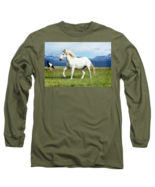 Mane And Feet Flying  Long Sleeve T-Shirt