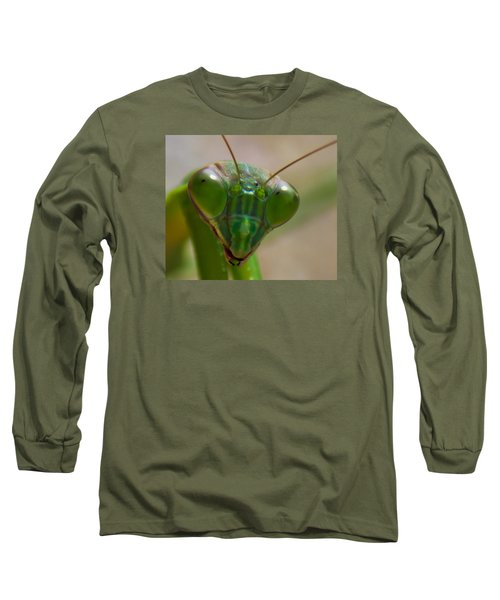 Mantis Face Long Sleeve T-Shirt by Jonny D