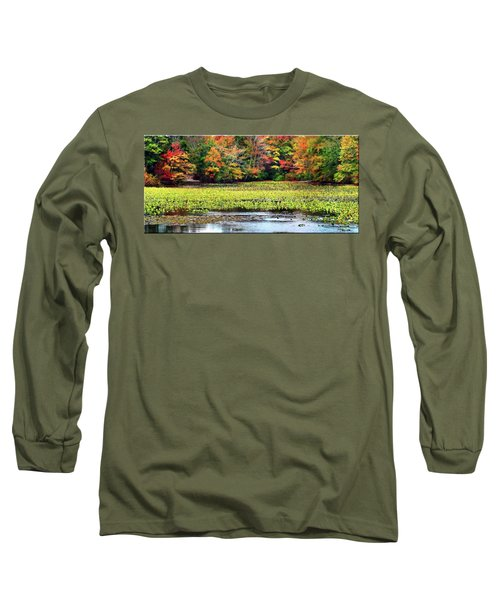 Many Colors Of Autumn Long Sleeve T-Shirt by Mikki Cucuzzo
