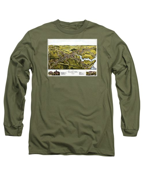 Map Of Clinton Connecticut 1881 Long Sleeve T-Shirt