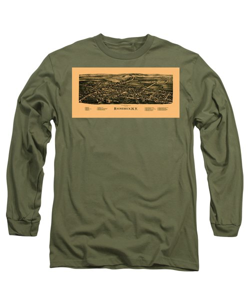 Map Of Rhinebeck 1890 Long Sleeve T-Shirt