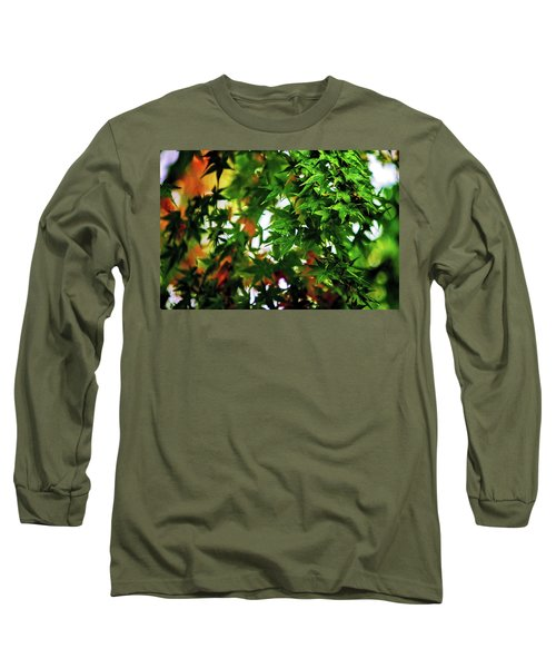 Maple In The Mist Long Sleeve T-Shirt by Mark Lucey