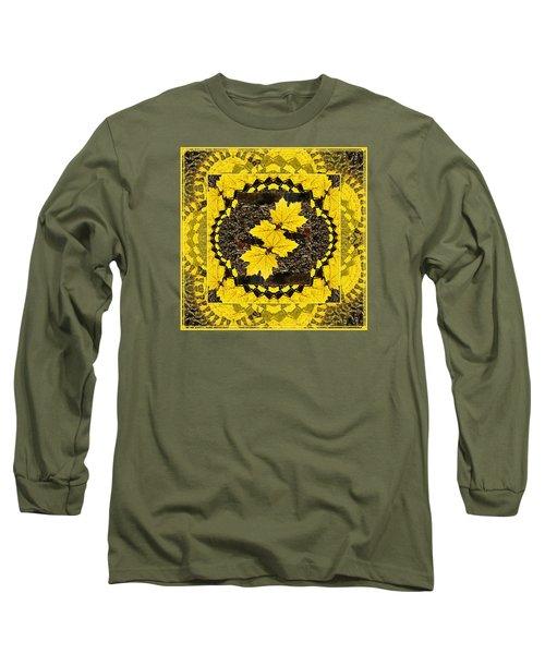 Maple Leaf Design Long Sleeve T-Shirt