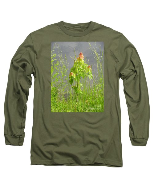 Maple On Lake Long Sleeve T-Shirt by Craig Walters