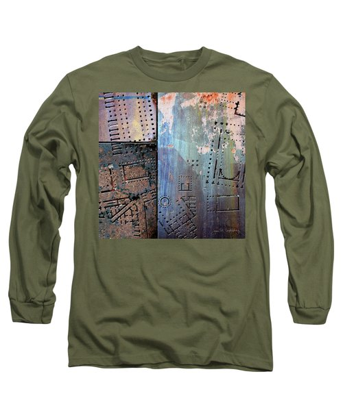 Maps #9 Long Sleeve T-Shirt by Joan Ladendorf