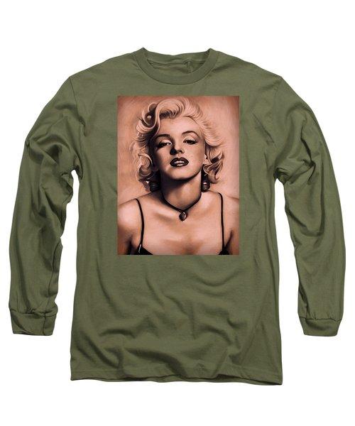 Marilyn Monroe Long Sleeve T-Shirt by Louis Ferreira