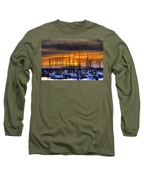 Marina At Sunset Long Sleeve T-Shirt