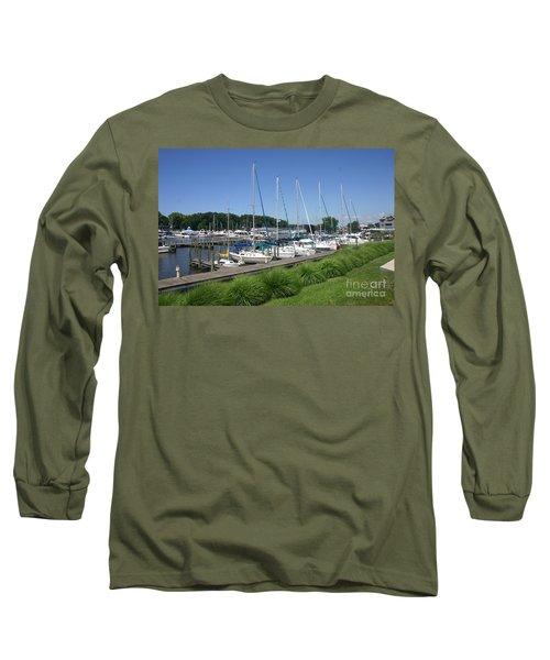 Marina On Black River Long Sleeve T-Shirt