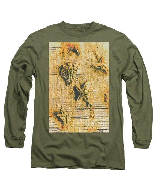 Maritime Sea Scroll Long Sleeve T-Shirt