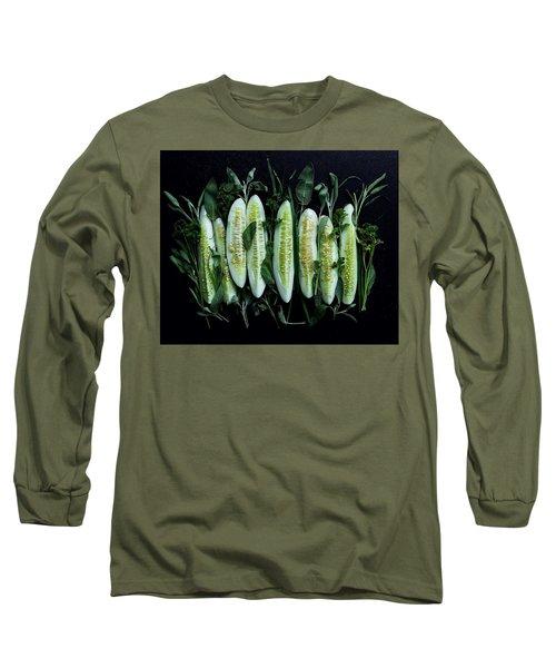 Market Cucumbers Long Sleeve T-Shirt