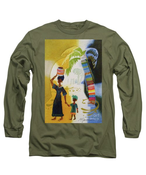 Market Day Long Sleeve T-Shirt by Marilyn Jacobson