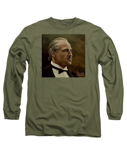 Marlon Brando Long Sleeve T-Shirt by Meijering Manupix